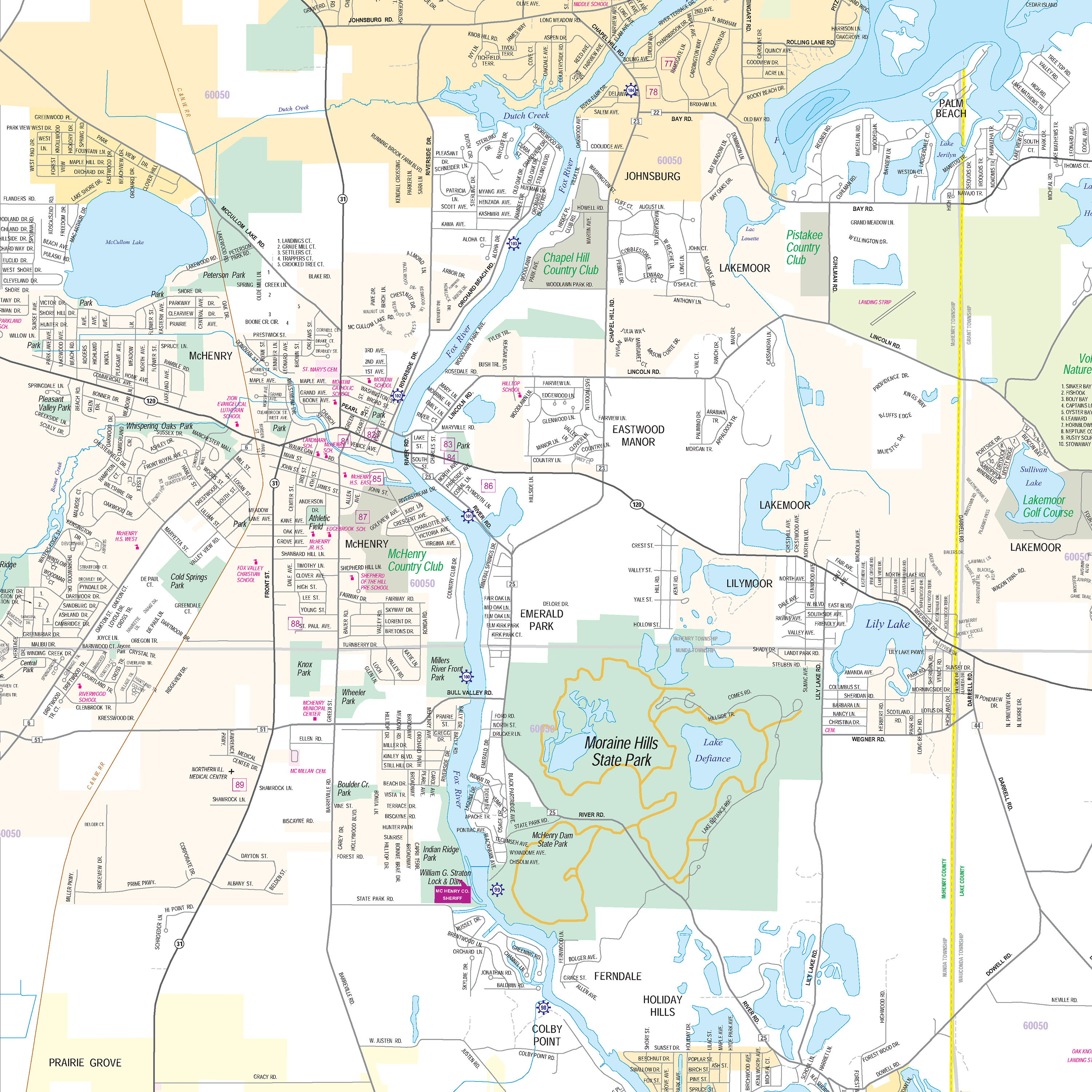 Waterway Map Fox Waterway Agency - Map of wisconsin lakes and rivers